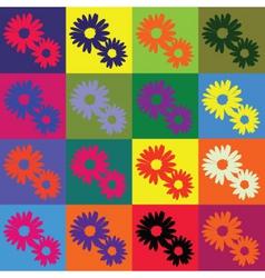 retro daisies vector image