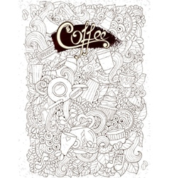 Coffee sketchy notebook doodles hand-drawn  coffee vector