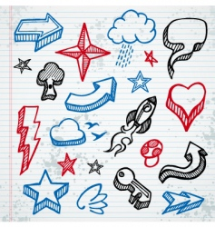 sketchy icons vector image