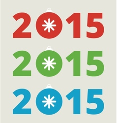 New year 2015 lettering vector