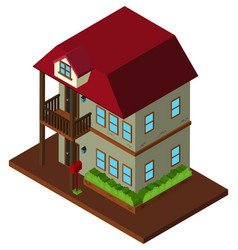 3d design for two stories house vector image vector image