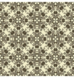 floral sepia vector image