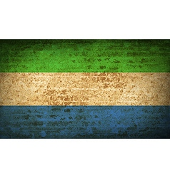 Flags sierra leone with dirty paper texture vector