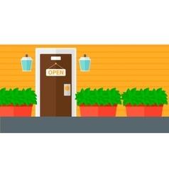 Background of cafe or shop facade vector image