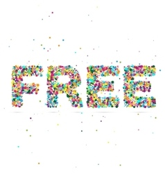 Free word consisting of colored particles vector