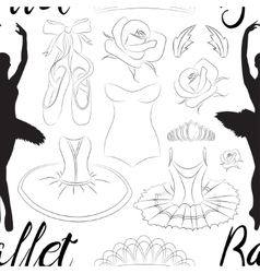 Hand drawn ballet pattern vector