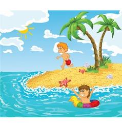 cartoon summer background vector image