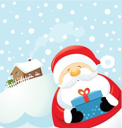 Santa with gift vector
