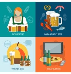 Beer flat set vector image vector image