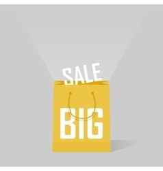 big sale bags over gray background vector image
