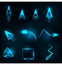 blue abstract glowing arrows vector image vector image