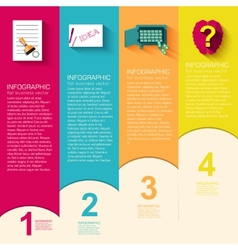 Business flat infographic template with text vector image vector image
