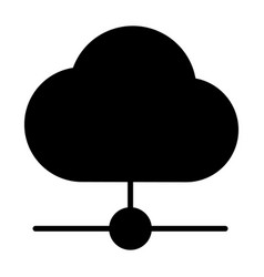cloud technology line icon minimal pictogram vector image vector image