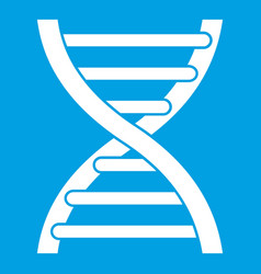 dna icon white vector image vector image