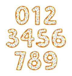 Donut numbers vector image vector image