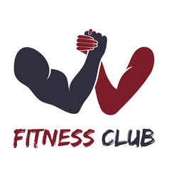 gym fitness emblem labels badges logo vector image vector image