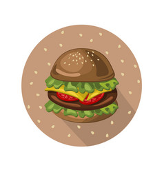 Hamburger logo background vector
