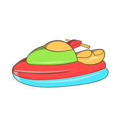 Jet ski icon cartoon style vector