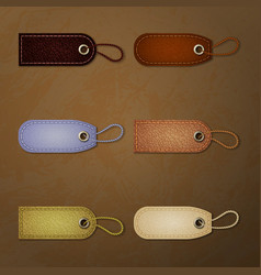 leather tag collection vector image