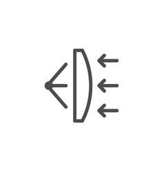 lens scheme line icon vector image vector image