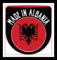 Made in albania sign vector
