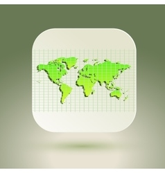 Map icon for application on air background grid vector