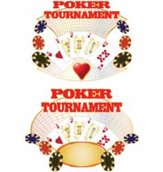 poker tournaent vector image vector image