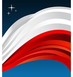 Poland flag background vector