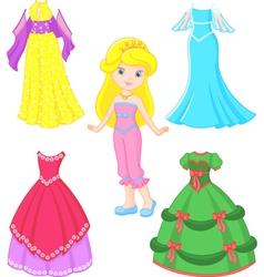 princess dress vector image vector image