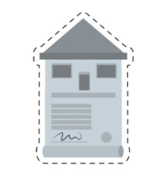 Real estate contract buy house cut line vector