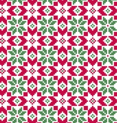 seamless nordic pattern on white vector image
