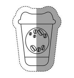 Silhouette coffee drink food icon vector