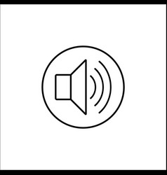 Sound mode line icon mobile sign and loud vector