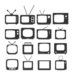 tv icon in trendy flat style isolated on white vector image vector image