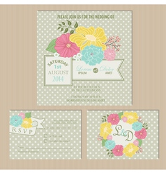 Wedding csrd set vector
