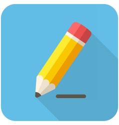 Pencil draws a line icon vector image
