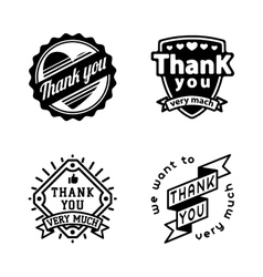 Thank you badge icons vector