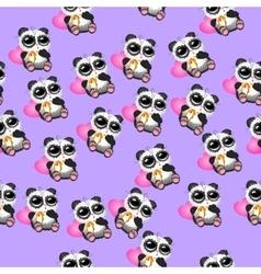 Cute christmas pandas vector
