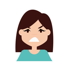 Girl expression face vector