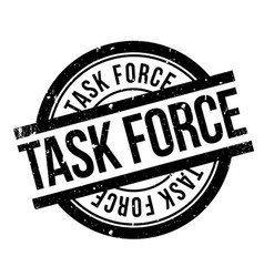 Task force rubber stamp vector
