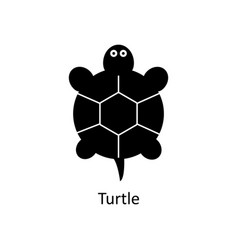 turtle icon silhouette icon vector image