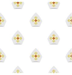 Catholic hat pattern flat vector