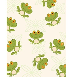 Cartoon frog pattern vector image
