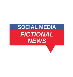 Social media fictional news sign vector