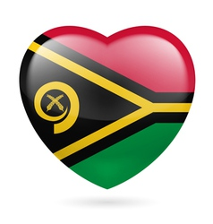 Heart icon of vanuatu vector