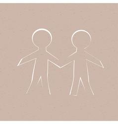 Paper Human vector image