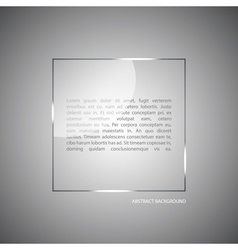 Abstract background with a glass panel vector