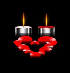 Couple of candles vector