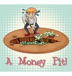 Money pit vector