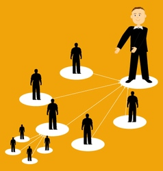 Flat of network business vector